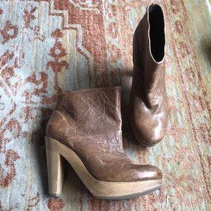 Theory Clog Leather 'Rachel' Boots NIB Sz. 38.5